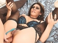 MILF Raylene in lingerie suggests her juicy fuckable ass to hawt thick dicked neighbour that satisfies her anal needs and wants in this video. This babe feels pleased getting ass fucked.
