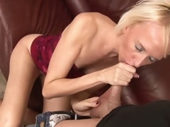 Madison Mayhem is a slim blonde