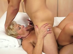 Lustful granny Malya can't live without the pleasant intensive joy of a large cock ramming her hard
