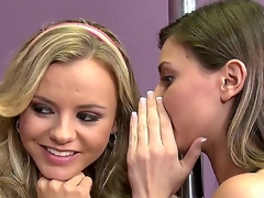 Blond hussy Bree Olson is too horny to resist Keiran Lees vertical love wand