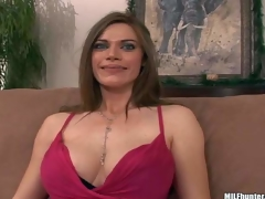 This well-endowed woman finds herself side by side with MILF Hunter on the daybed after playing golf together. She flashes her charming large pointer sisters and gievs a smile this guy can not resist!