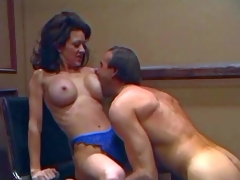Skinny smoking hawt brunette milf Raquel Divine with round fake balloons and taut firm wazoo in blue lace undies receives licked good by her turned on spouse with hawt body
