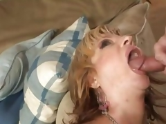 Brittany Blaze receives her throat filled with thick cum
