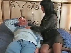 Dark brown Italian wife goes to her lover