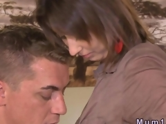 Lascivious dude fucking a pleasant Euro MILF