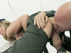 MILF honey Julia Ann rammed hard in the army by a horny soldier