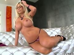 Nice-looking Swedish Pornstar with big tits Puma Swede showing her outstanding body