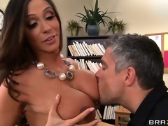 Breasty brunette hair teacher shows her class how to have a proper orgasm