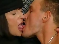 Older brunette hair takes care of her gigolo with mouth and pussy