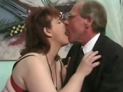 Grown up brunette Jenny Joyce gets her cunt licked and drilled hard