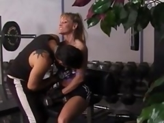 Fit blond milf gets unforgettably fucked in a gym