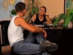 Grown up copier Linda receives drilled doggy style within reach her personate place