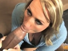 Milf joey lynn screwed by a black wang while son watches