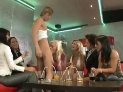 Hot MILFs Engulf a Big Cock and Go Lesbian On Each Other In a CFNM Party