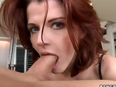 Redhead MILF Joslyn James is attractive and skillful . She gives amazing cook jerking and takes dick in her mouth before that babe makes it vanish in her hungry pussy.