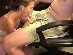 She was a bit shy 'cuz the camera was shooting, but likewise horny. I sat in an armchair and this babe knelt in front to wrap her lips around my cock. Then, this babe performed one of the best blowjobs ever.