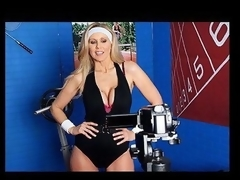 Julia Ann is a hyper fitness freak putting together an edgy workout DVD. That Hottie has not quite everything this chick needs: glamorous bouncing love muffins, an amazing firm body, a vigorous routine, but still lacks a certain `je ne-sais-quoi` to make it complete. One Time this chick spots Tony Ribas in the gym, this chick comes up with a fresh idea for the DVD that all sexually active sweethearts can have a joy by putting her scoops into action and sweating herself into a sexy frenzy!